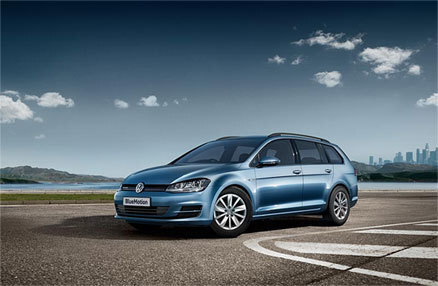 Vw Blue Estate Exterior